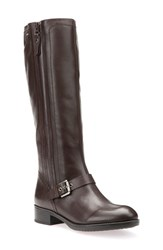 Geox Women's Felicity 13 Riding Boot Coffee Leather