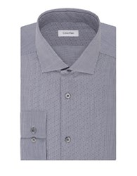 Calvin Klein Slim Fit Dress Shirt Empire Blue