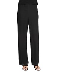Alex Evenings Plus Chiffon Pull On Pants Black