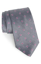 Nordstrom Men's Men's Shop Open Ground Geometric Silk Tie Onyx