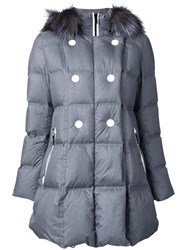 Loveless Padded Hooded Jacket Grey