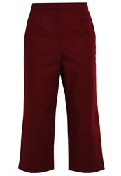 Ivy And Oak Trousers Bloody Red Dark Red