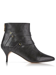Lucy Choi London Marlborough Kitten Heel Ankle Boot Black Black