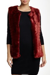 Luma Faux Fur Vest Red