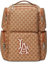 Gucci Large Backpack With La Angelstm Patch Brown
