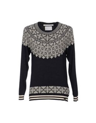 White Mountaineering Sweaters Dark Blue