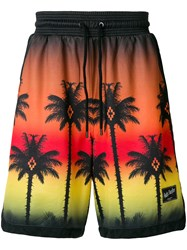Marcelo Burlon County Of Milan Palm Sunset Bermuda Shorts Multicolour