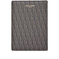 Saint Laurent Monogram Passport Holder Black