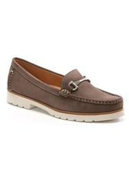 Daniel Gladiolus Buckled Loafers Beige