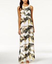 Bar Iii Museum Moss Printed Maxi Dress Only At Macy's