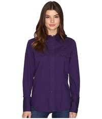 Roper 0709 Black Fill Poplin Purple Purple Women's Clothing