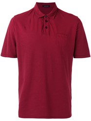 Roberto Collina Chest Pocket Polo Shirt Red