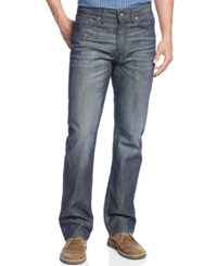 Alfani Big And Tall Kellan Jeans Grey Blue