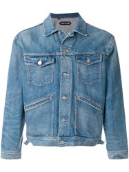Tom Ford Denim Jacket Cotton L Blue