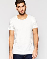 Only And Sons Scoop Neck T Shirt White