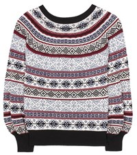 Alexander Mcqueen Silk Wool And Cotton Sweater Multicoloured