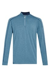 Tasc Performance Carrollton Quarter Zip Sweatshirt Tranquility Sea Heather