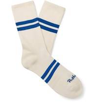 Pantherella Spirit Striped Stretch Cotton Blend Socks Neutrals