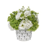 Diane James Green And White Bouquet