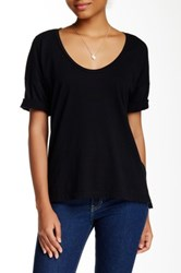 American Apparel Power Wash Deep Scoop Neck Tee Black