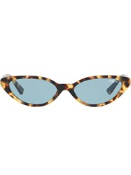 Vogue Eyewear Tortoiseshell Round Glasses Brown