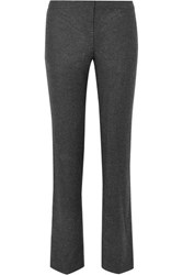 Alexander Mcqueen Wool Straight Leg Pants Gray