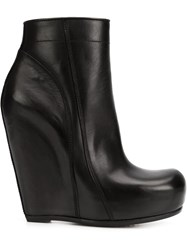 Rick Owens Tall Zip Wedge Boots Black