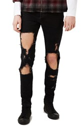 Topman Men's Extreme Ripped Stretch Skinny Fit Jeans