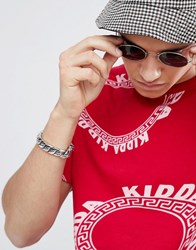 Christopher Shannon Kidda By Logo Print T Shirt In Red
