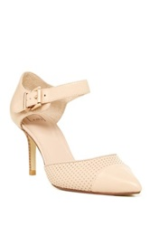 14Th And Union Tailor Perforated Leather Pump Beige
