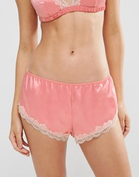 Asos Skye Satin And Lace French Knicker Blush Pink