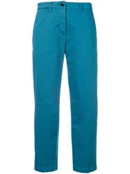Department 5 Slim Fit Cropped Trousers Blue