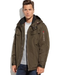 London Fog Ellington Four Pocket 3 In 1 Performance Jacket Olive