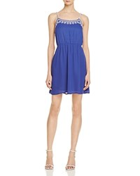 Aqua Embroidered Cami Dress 100 Exclusive Blue