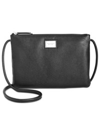 Tignanello Tech To Go Pebble Leather Crossbody Black