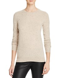 Bloomingdale's C By Crewneck Cashmere Sweater Wicker Donegal
