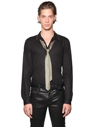 The Kooples Light Cotton Poplin Shirt W Zipper Trim Black