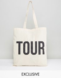 Reclaimed Vintage Tote Bag Tour Beige