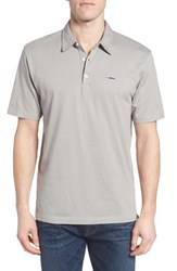 Patagonia Men's 'Trout Fitz Roy' Organic Cotton Polo Grey