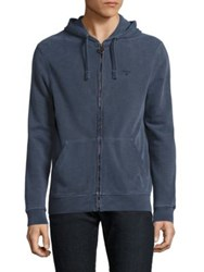 Barbour Garment Dyed Hoodie Navy
