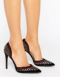 Forever Unique Alicia Point Heeled Shoe Black