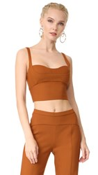 Narciso Rodriguez Sleeveless Crop Top Copper