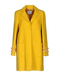 Max And Co. Coats Yellow