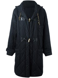Chanel Vintage Quilted Duffle Coat Black