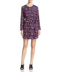 Daniel Rainn Floral Print Dress Indigo
