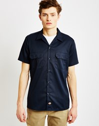 Dickies Short Sleeve Slim Shirt Navy