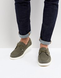 Eastland Popham Two Eye Boat Shoe In Green