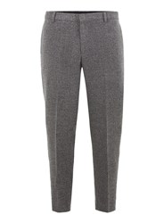 Selected Black Homme Grey Tapered Trousers