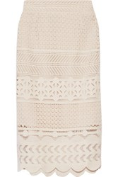 Sea Crocheted Cotton Skirt Off White