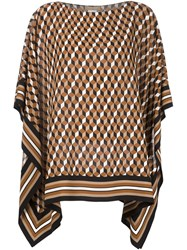 Michael Kors Scarf Tunic Brown